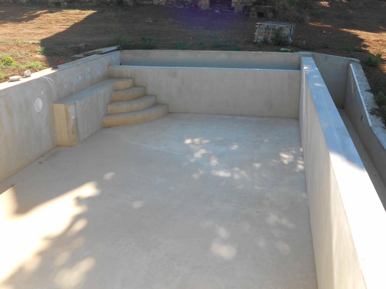 contruction piscine enterrée